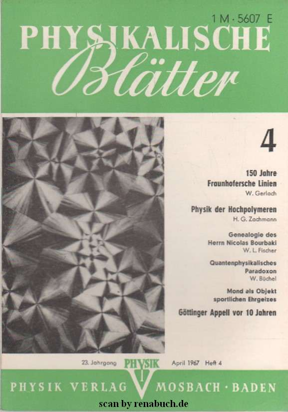 Physikalische Blätter April 1967
