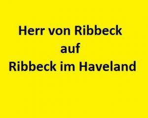 Herr von Ribbeck auf Ribbeck im Haveland