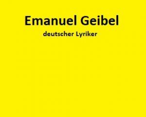 Emanuel Geibel