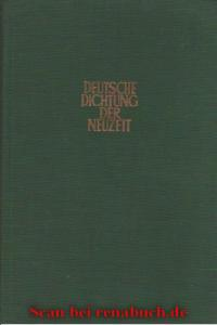 Deutsche Dichtung der Neuzeit
