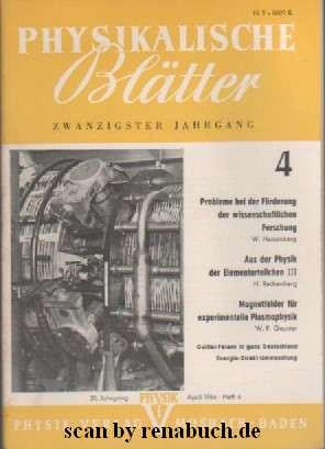 Physikalische Blättter 4/1964