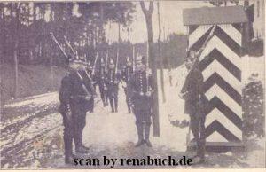 Preußische Gardeschützen bei der Ablösung