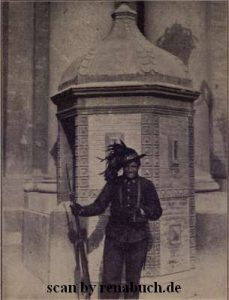 Ein Wachtposten in Neapel