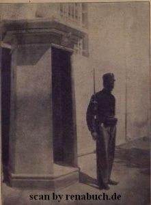 Wachtposten auf Korfu (Griechenland)