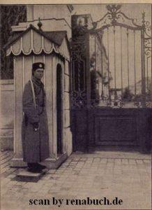 Schildwache vor dem königlichen Palast in Sofia