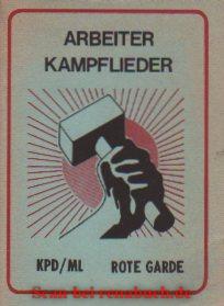 Arbeiter Kampflieder - Buchvorstellung - werner-haerter-archiv.de
