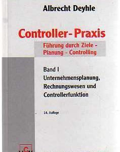 Cover Controller-Praxis, Band I - Albrecht Deyhle - vorgestellt im werner-haerter-archiv.de