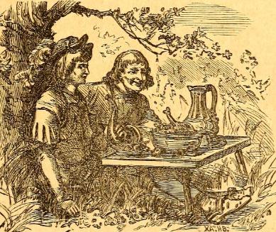 Abbildung Georg und Anton aus Neue Märchen seinen lieben Enkeln erzählt von Großvater - im werner-haerter-archiv.de
