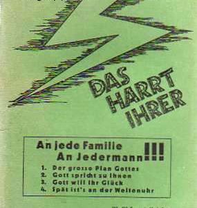 """Heftcover zu """"Das harrt Ihrer - Gottes plan im Weltgeschehen"""" - vorgestellt im werner-haerter-archiv.de"""