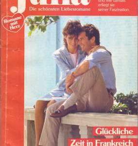 """Cover zum Heftroman """"Glückliche Zeit in Frankreich"""" von Penny Jordan, erschienen im Cora-Verlag, vorgestellt im werner-haerter-archiv.de"""