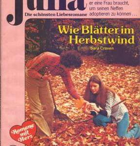 """Cover zum Romanheft """"Wie Blätter im Herbstwind"""", Julia Band 317, Cora-Verlag - vorgestellt im werner-haerter-archiv.de"""