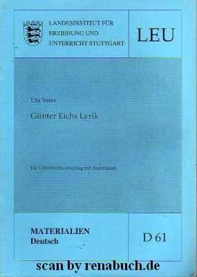Günter Eichs Lyrik